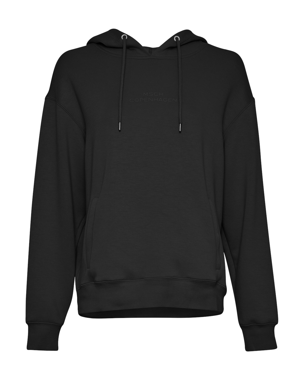 MSCH Ima Logo Hood Sweatshirt, sort