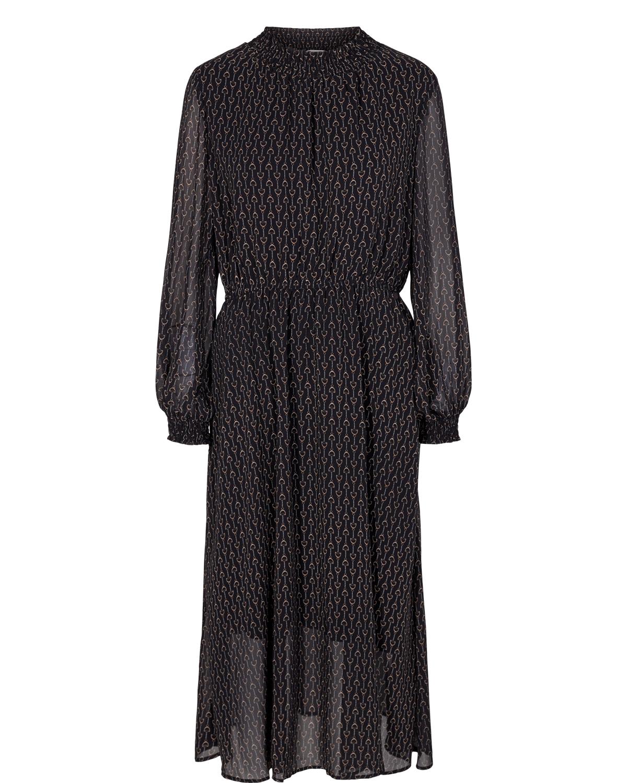 Nümph Cassie Dress, sort mønstret