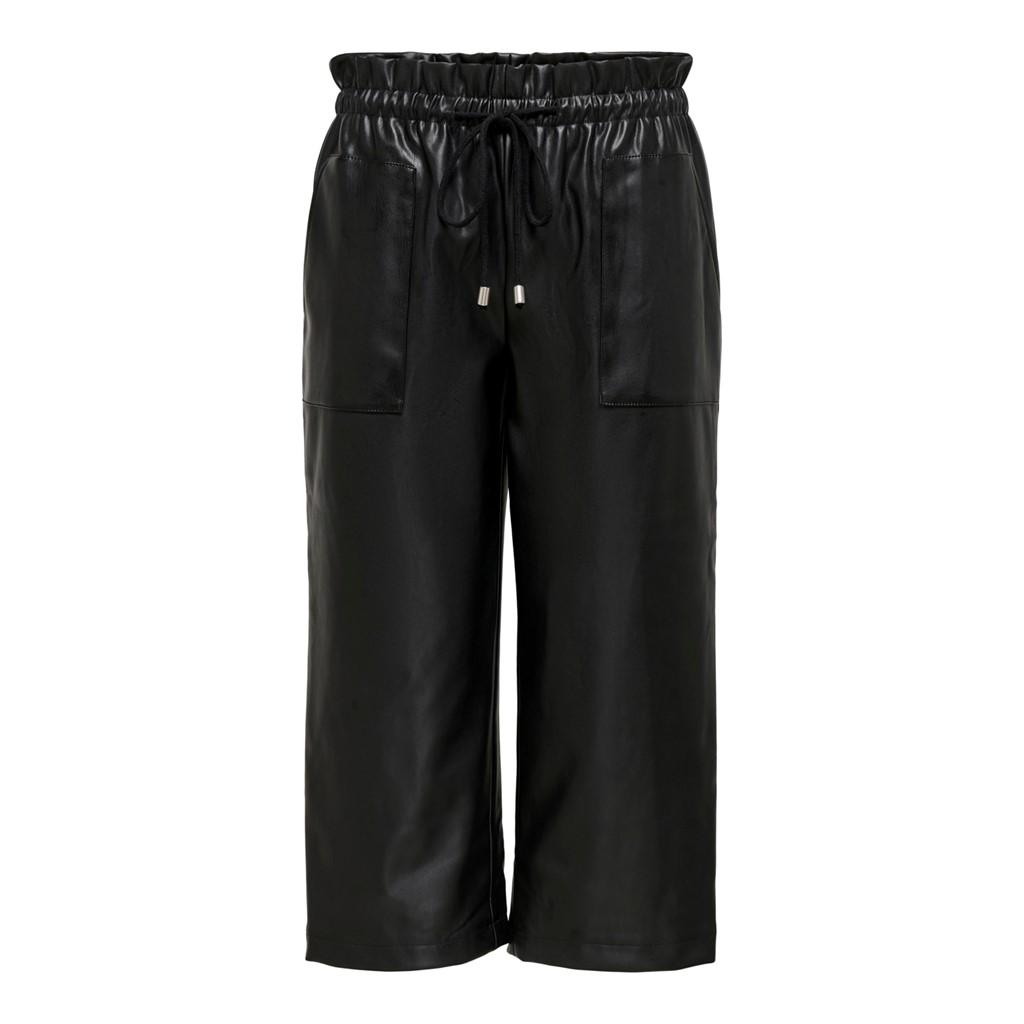 Jacqueline de Young Myrna cropped faux leather pant, black