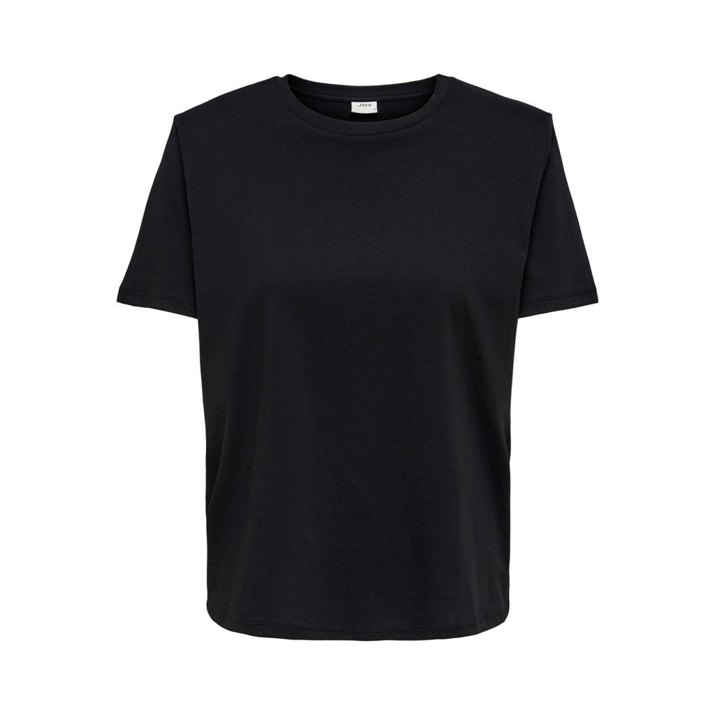 Jaqcueline de Young Bibi s/s shoulder detail top, black