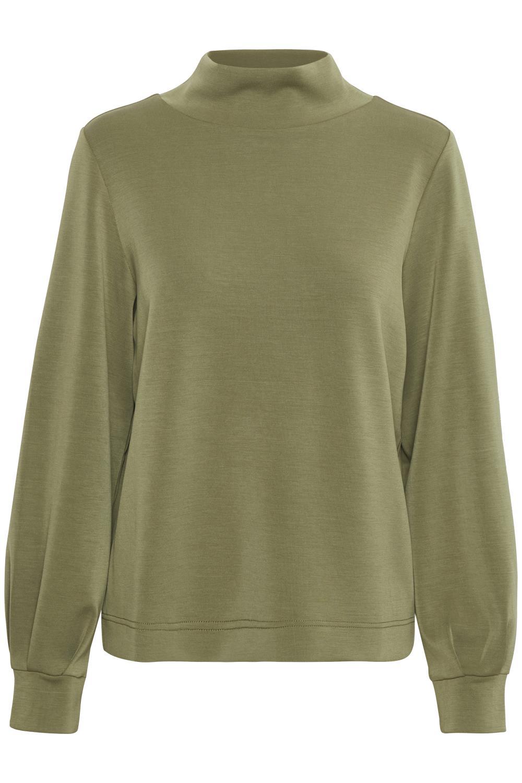Kaffe Edita jersey blouse, capulet olive