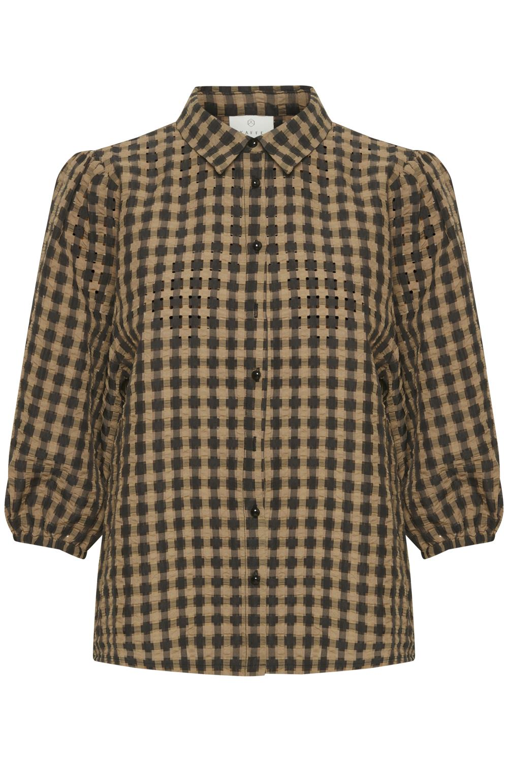 Kaffe Skyla shirt, thrush/black check