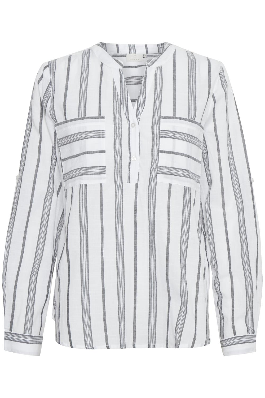 Kaffe Sandy blouse, chalk/grey yarn dyed stripe