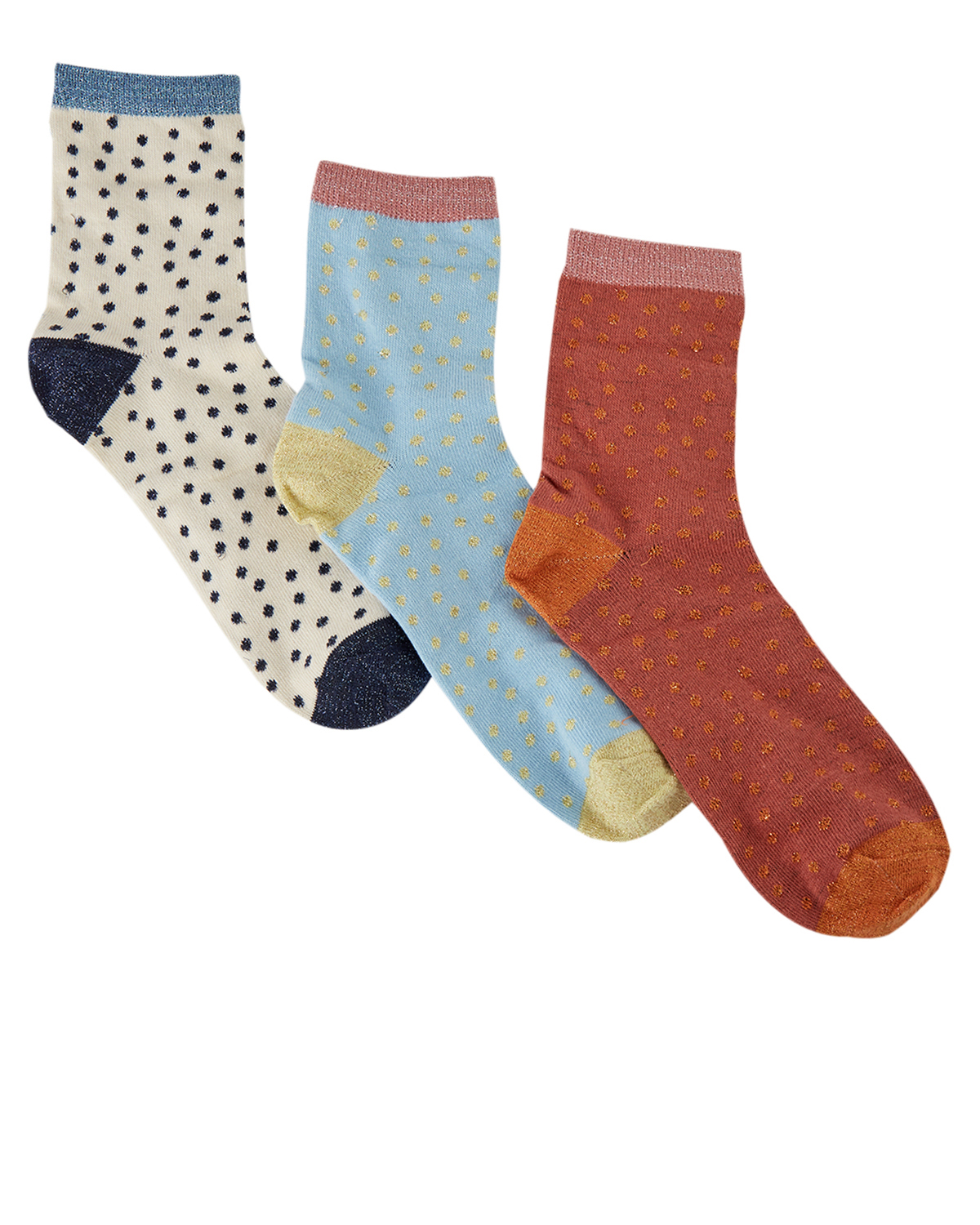 Nümph NuCiel 3-pack glitter socks, multi