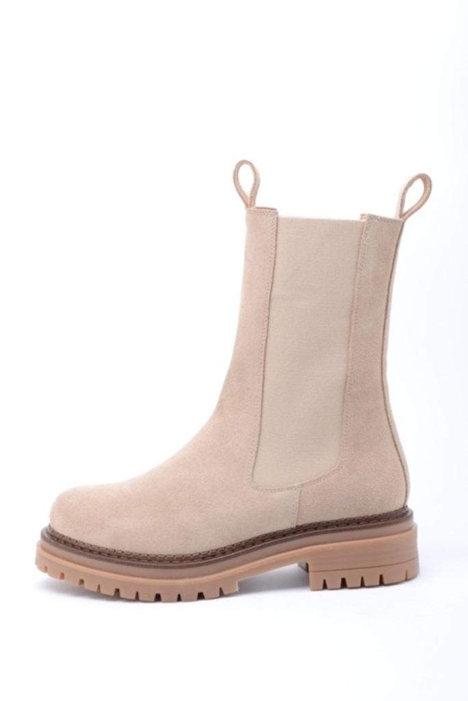 KMB Shoes Crosta beige, semsket boots