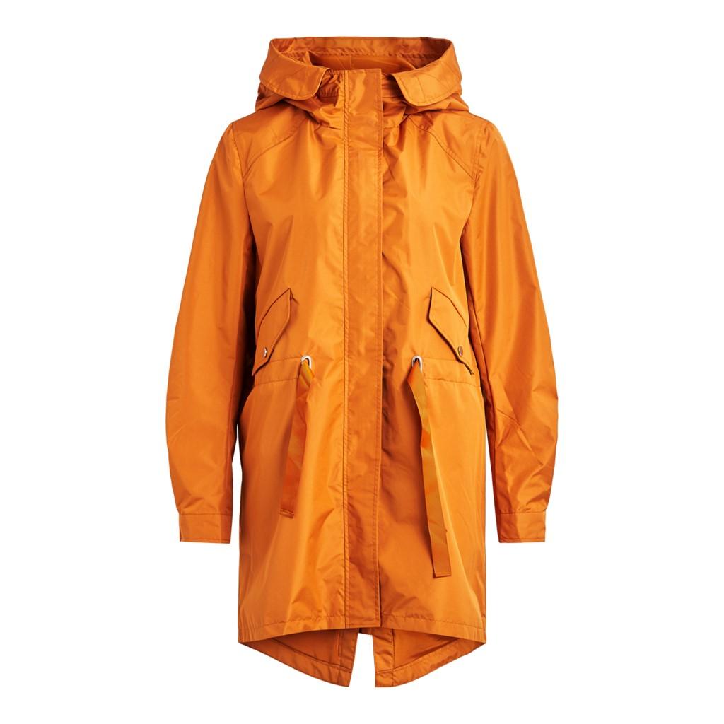 Vila Aminas coated jacket/su, adobe/oransje