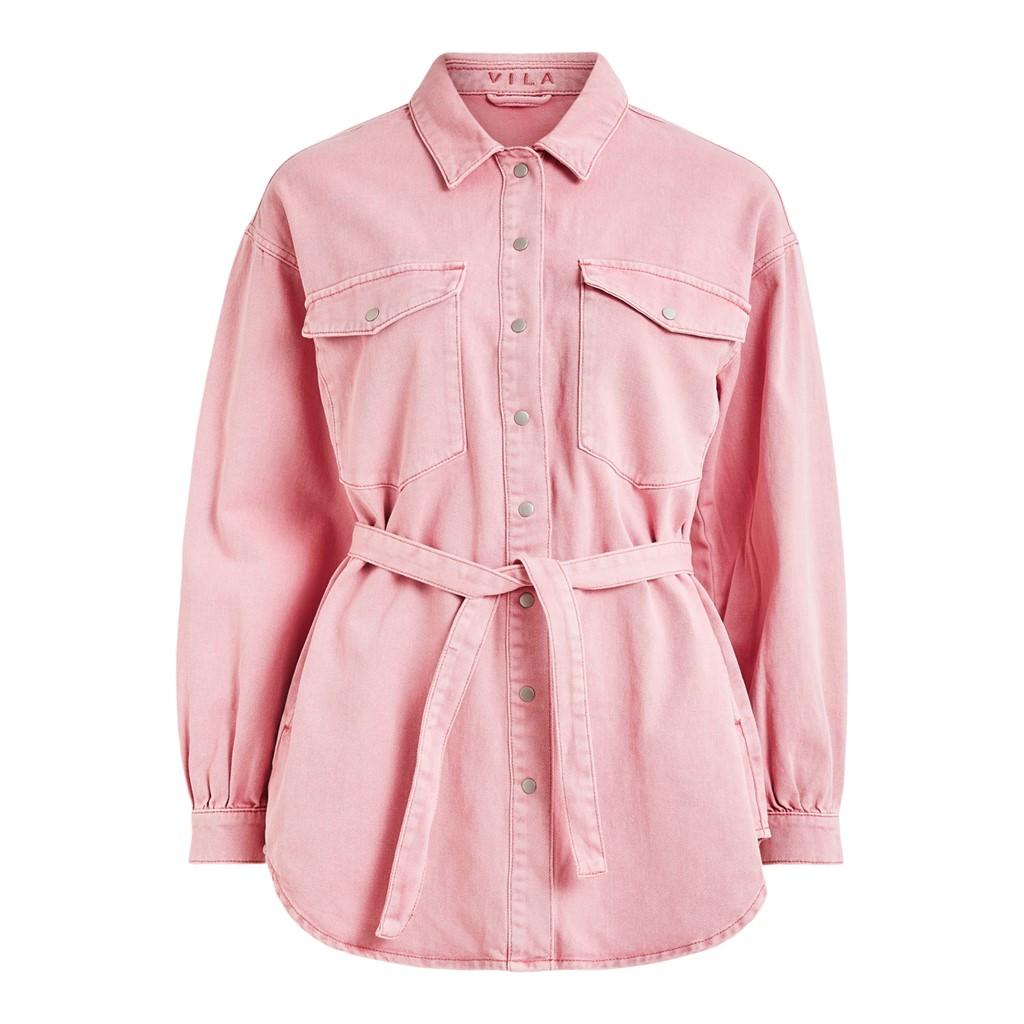 Vila Dressa denim skjorte/jakke, wild rose