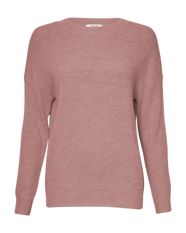 MSCH Femme alpaca pullover, old rose/rosa