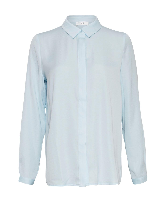 MSCH Blair Seasonal polysilk shirt, omphalodes/blå
