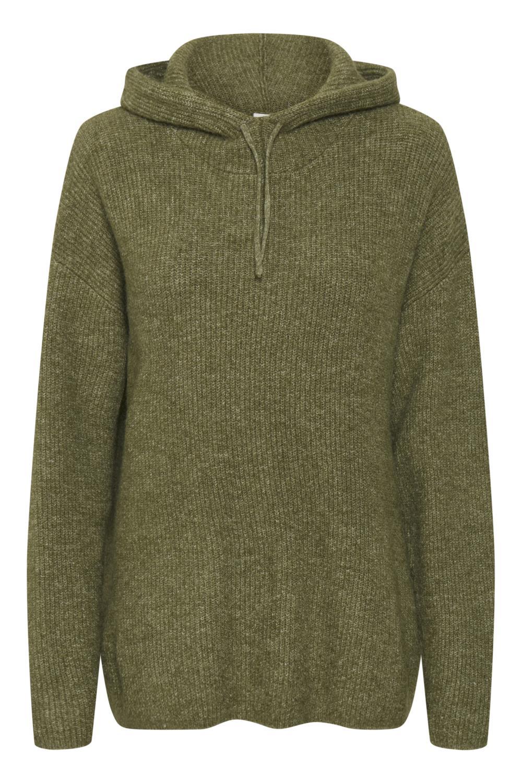 Kaffe Marissa Knit Pullover, melert grønn