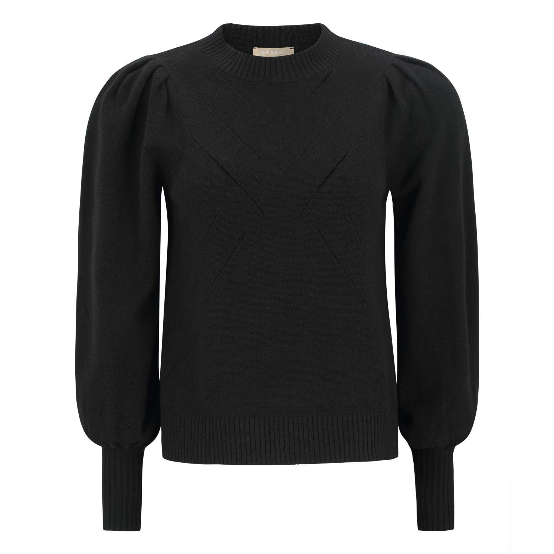Soft Rebels Tamara O-neck Knit, black
