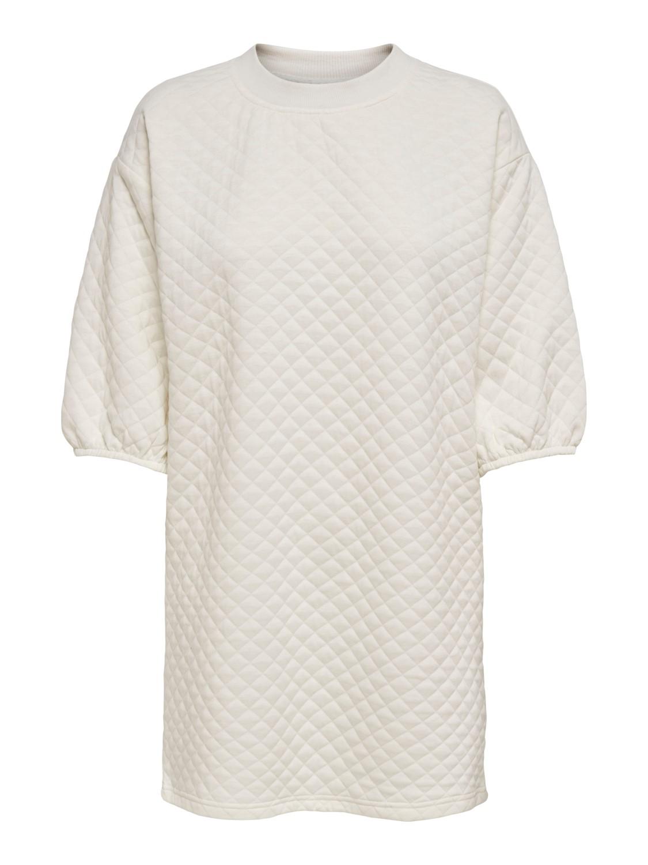 Jacqueline de Young Napa 3/4 quilted dress, cloud dancer