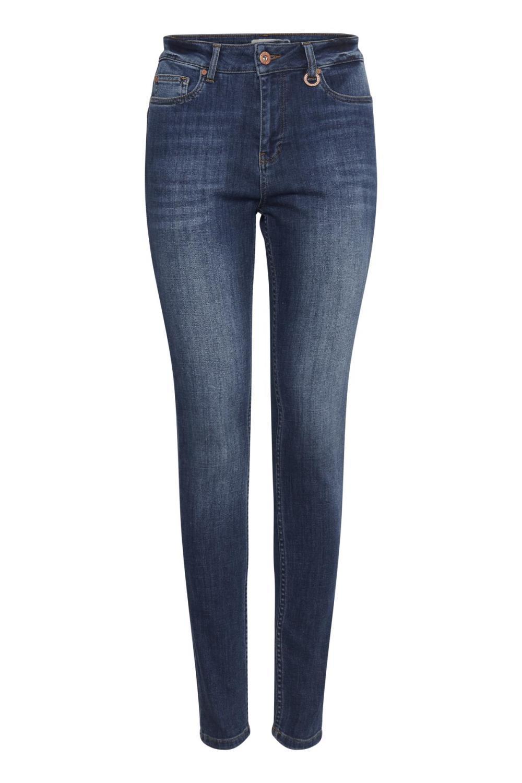 Pulz Liva highwaisted skinny jeans, medium blue denim