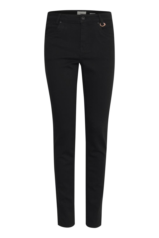 Pulz Emma skinny jeans, black denim