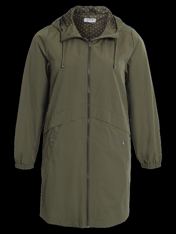 Ciso Parkcoat, grønn jakke med hette