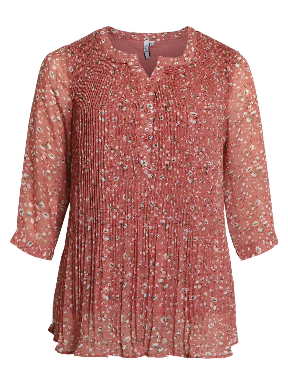 Ciso blomstret tunika, rosa