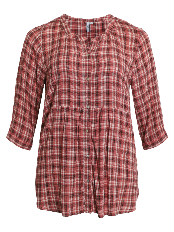 Ciso skjortebluse, rosa/rutet