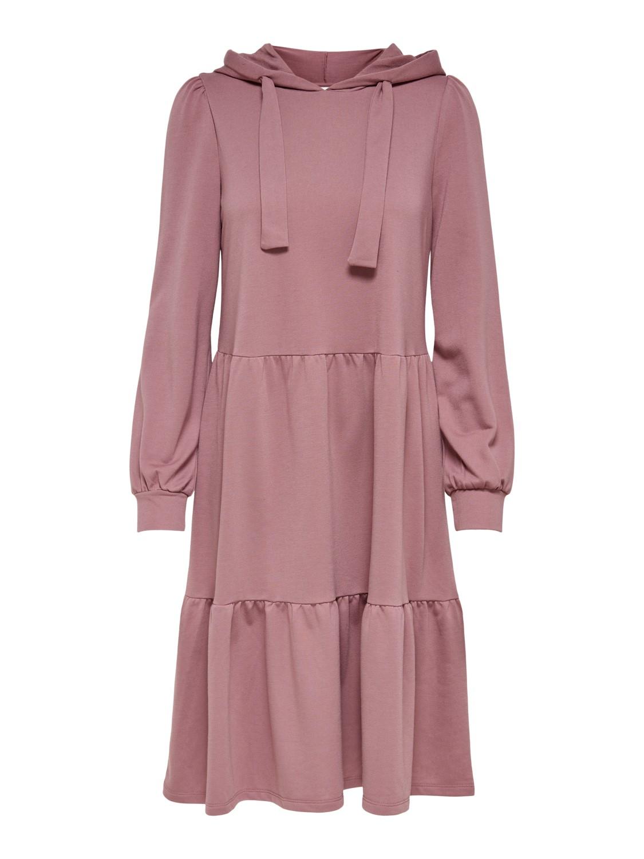 Jacqueline de Yong Dale Hood Sweat Dress, rosa