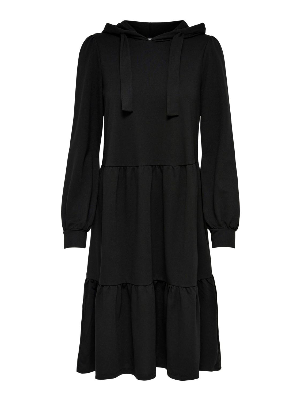 Jacqueline de Yong Dale Hood Sweat Dress, sort
