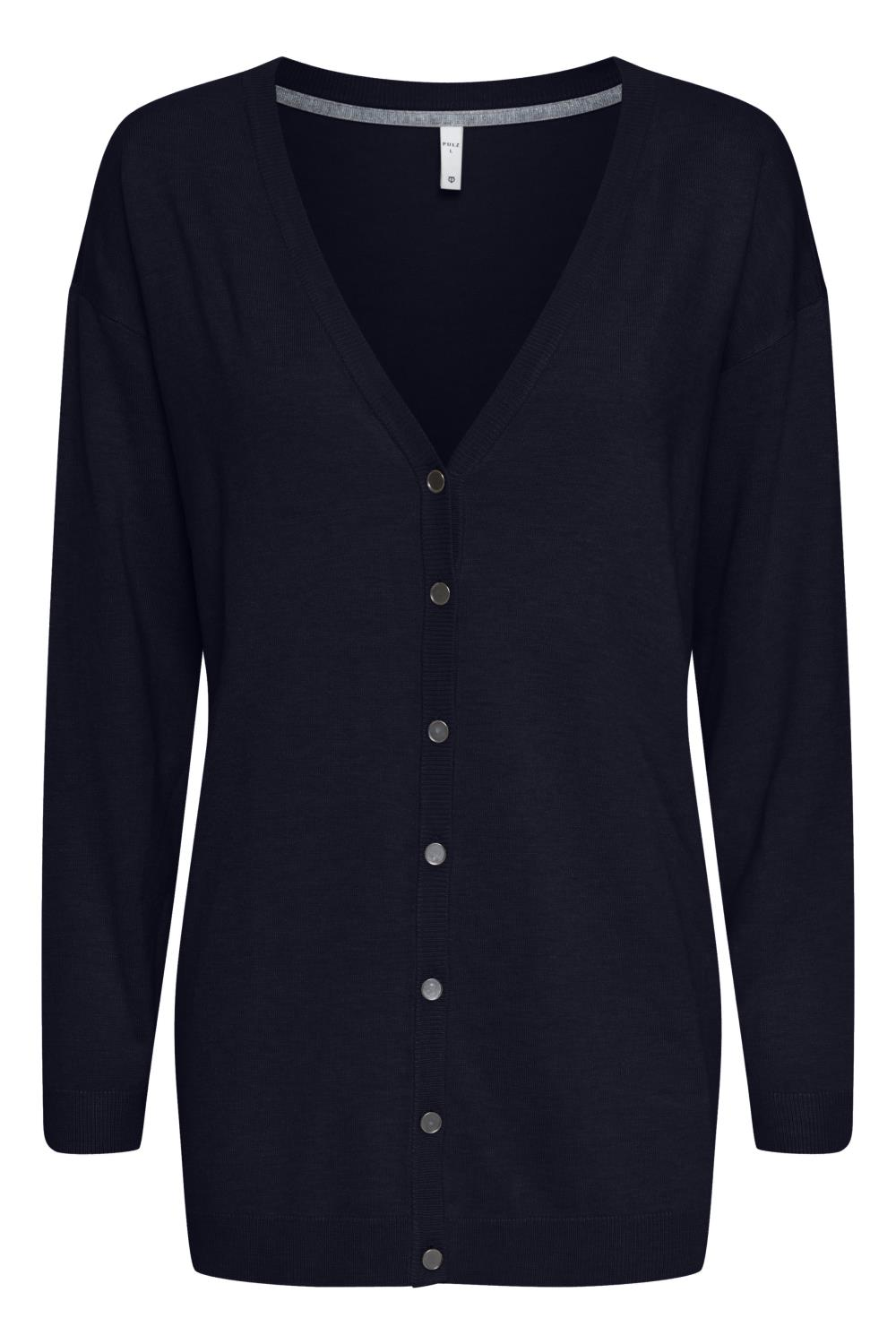 Pulz Sara cardigan, black beauty