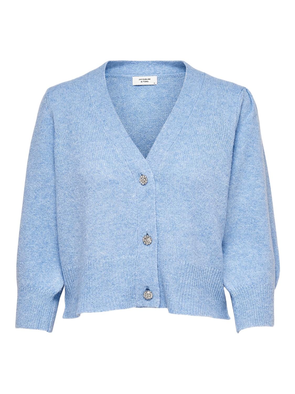 Jacquelin de Yong Aida Button Cardigan, lysblå