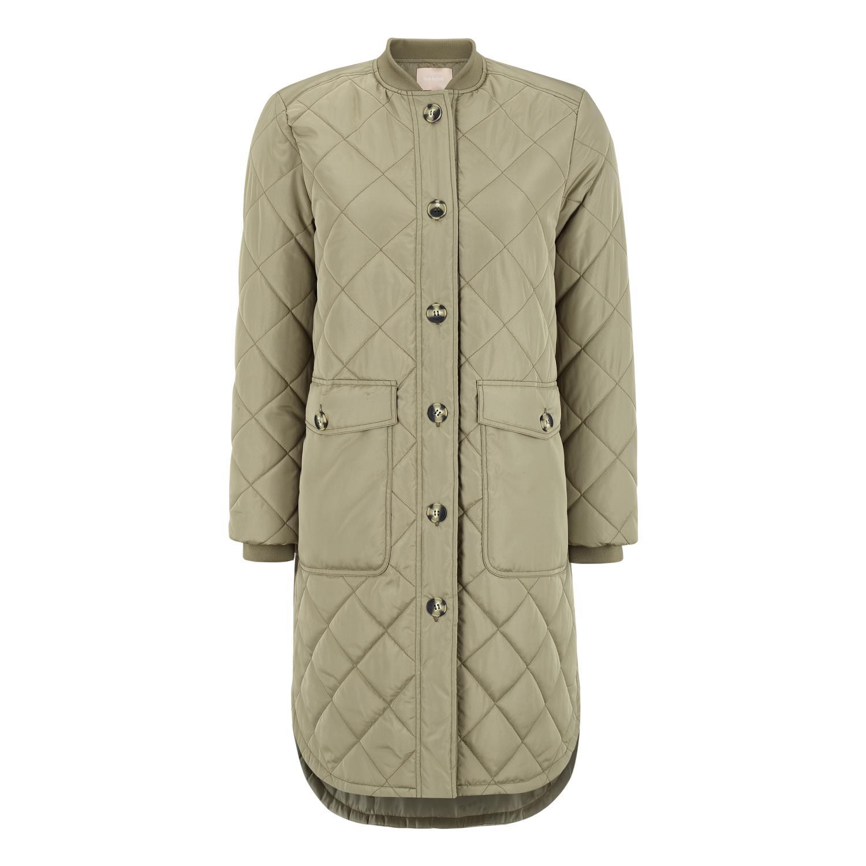 Soft Rebels SREileen quilt coat, covert green