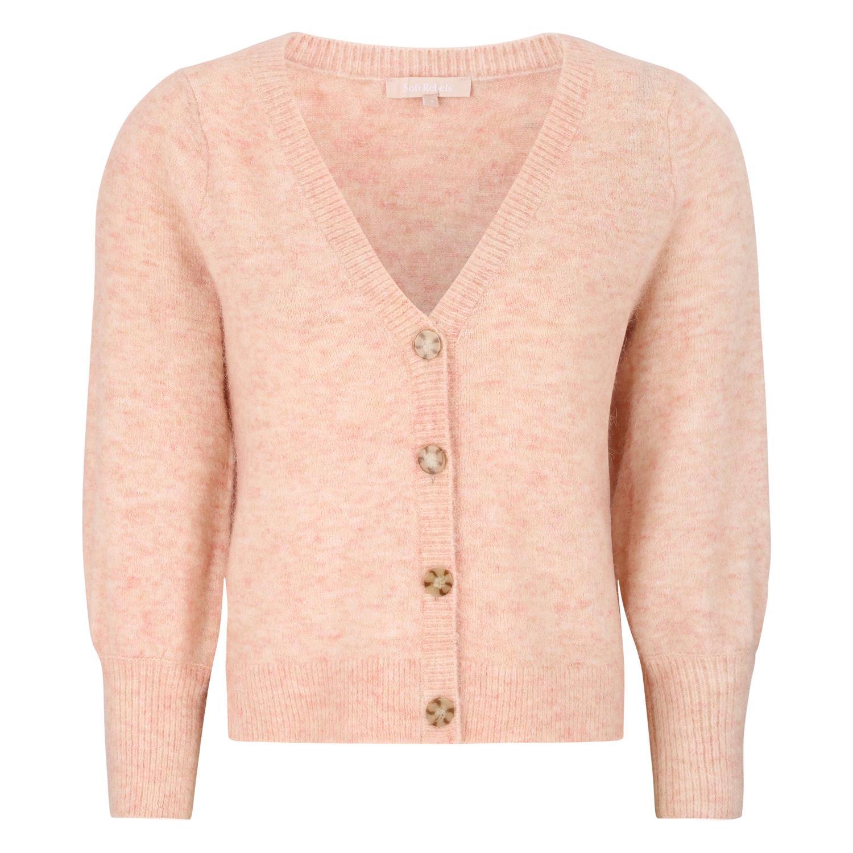 Soft Rebels SRLiva 3/4 cardigan knit, quarts pink