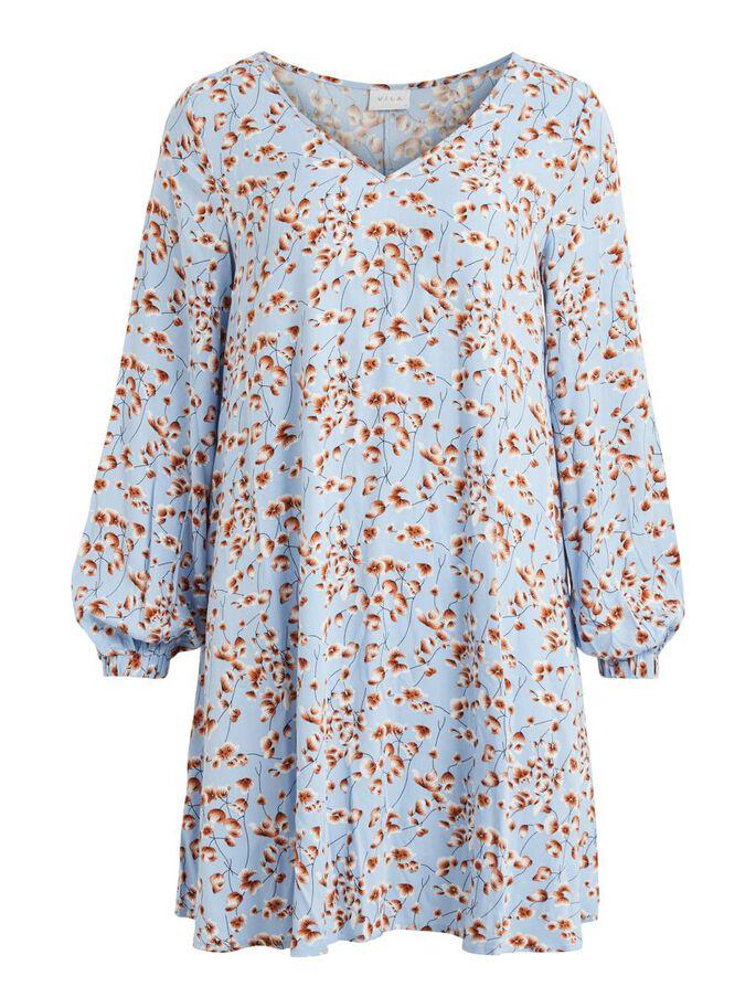 Vila TIki Dress, lysblå mønstret