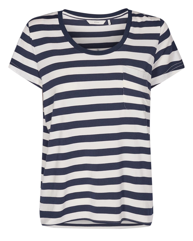 Nümph Bowie T-shirt, stripet marineblå/offwhite