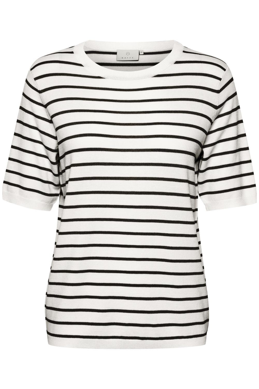 Kaffe Mala pullover, chalk/black stripe