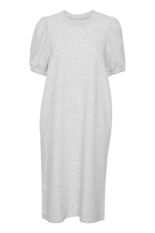 Kaffe Linima jersey dress, light grey melange