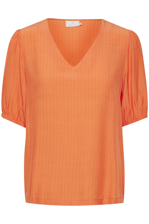 Kaffe Veronica blouse, bird of paradise/oransje