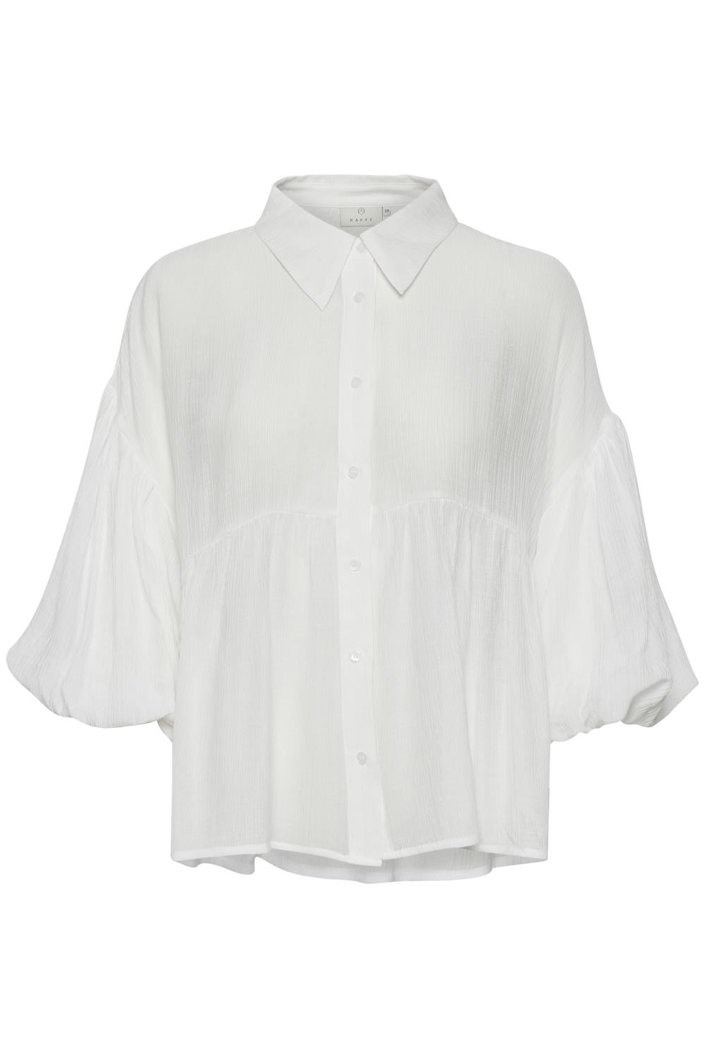 Kaffe Charla shirt 3/4 sleeve, chalk