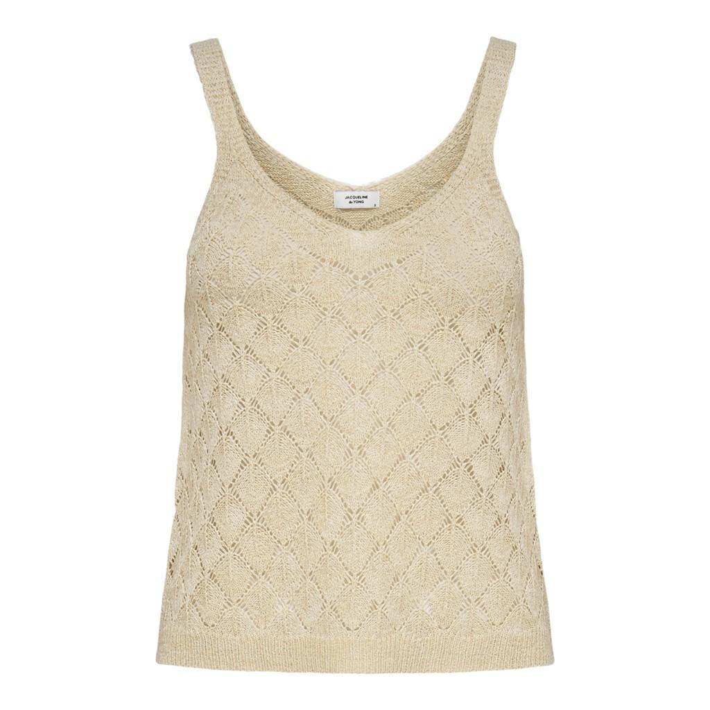 Jacqueline de Young Desha S/L knit top, angora/beige