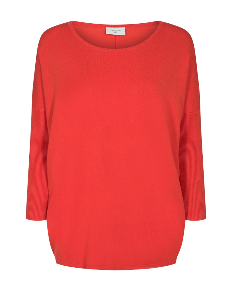 Freequent Jone pullover, poppy red