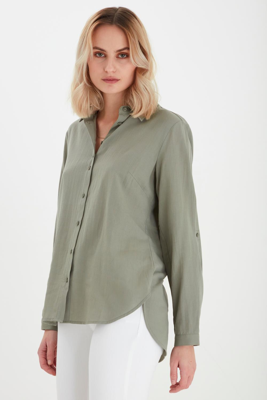 Pulz Anita Shirt, lys grønn bomull