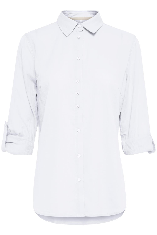Pulz Anita Shirt, hvit bomulls skjorte
