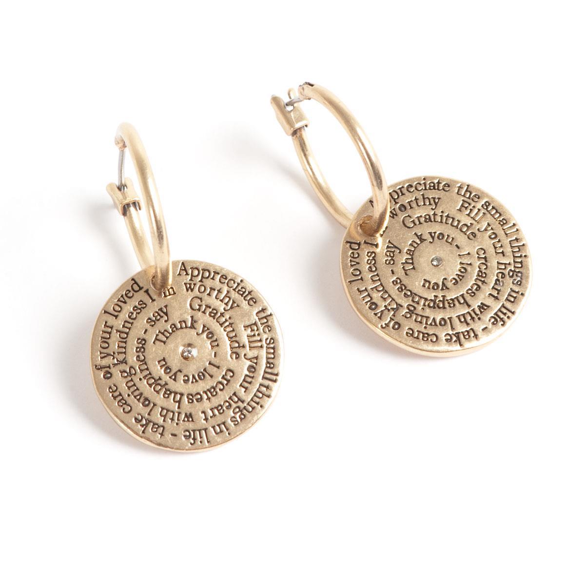 A&C øreringer, medium, gull