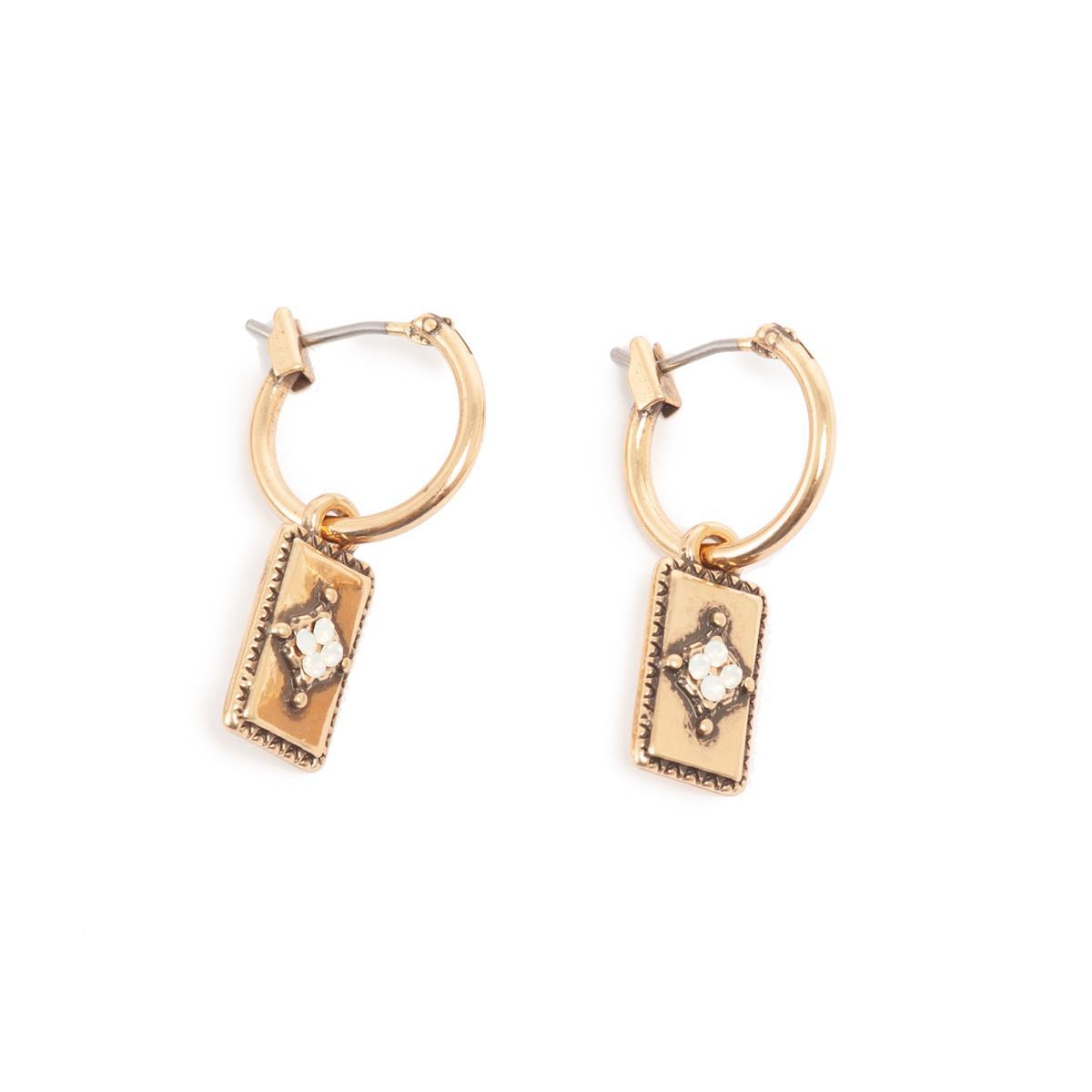 A&C små øreringer, opal white
