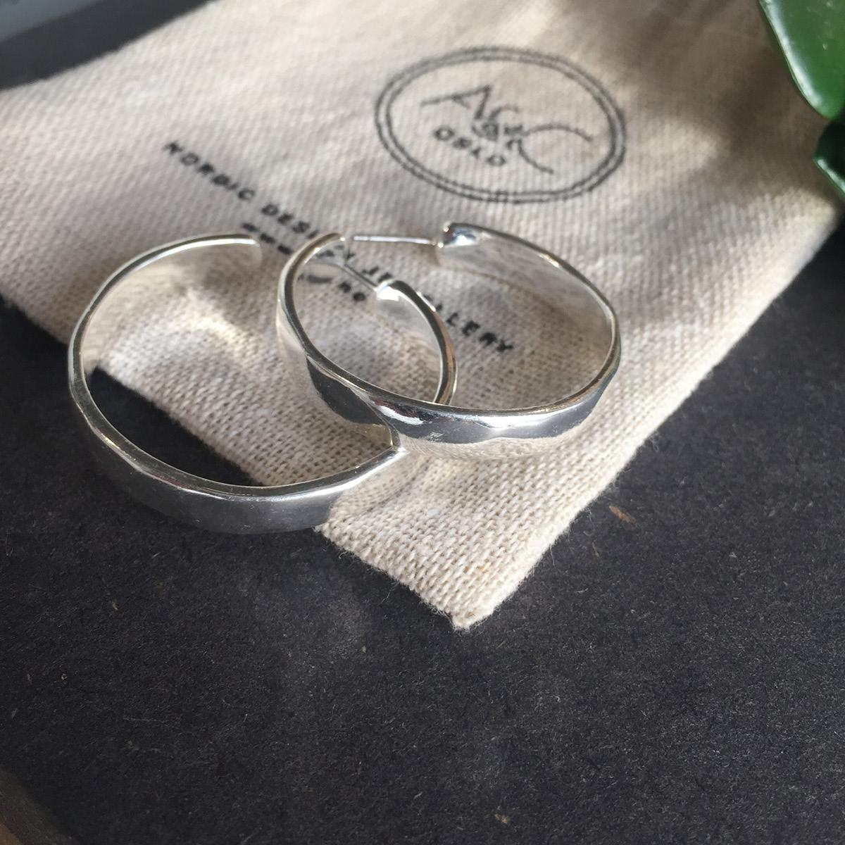A&C Basis Signature, øreringer, sølv