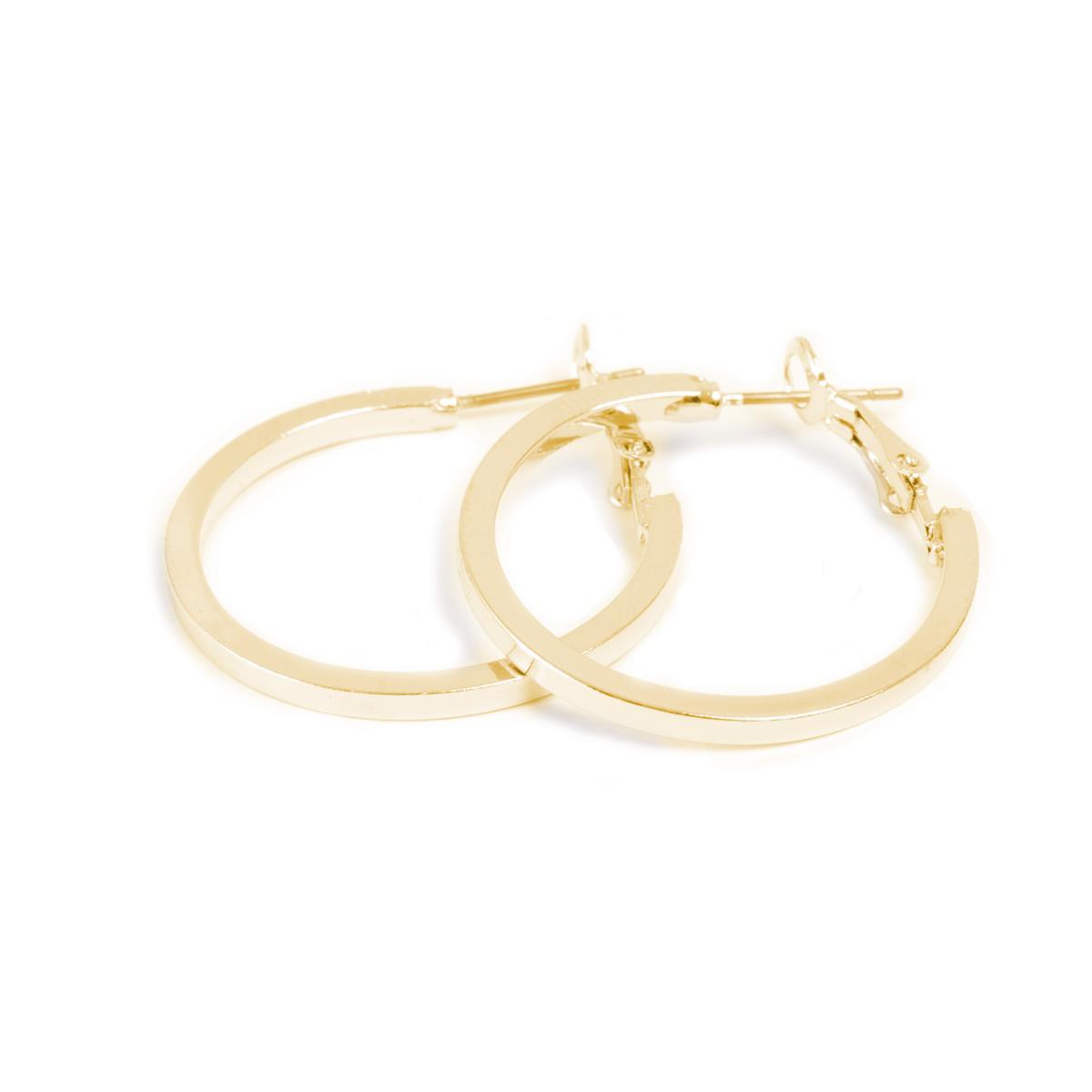 A&C Standard, øreringer, gull, 30 mm