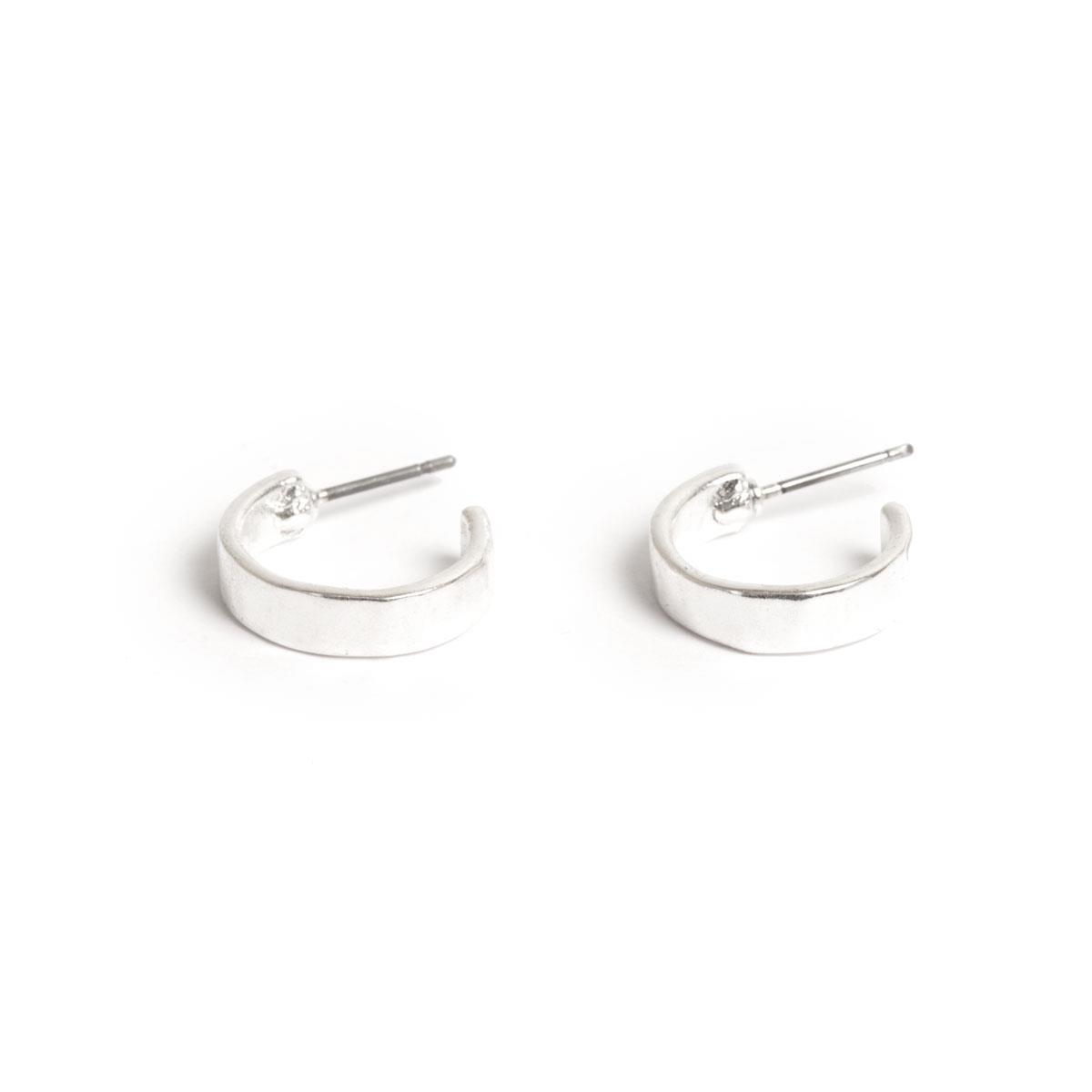 A&C Basic Signature, øreringer, sølv