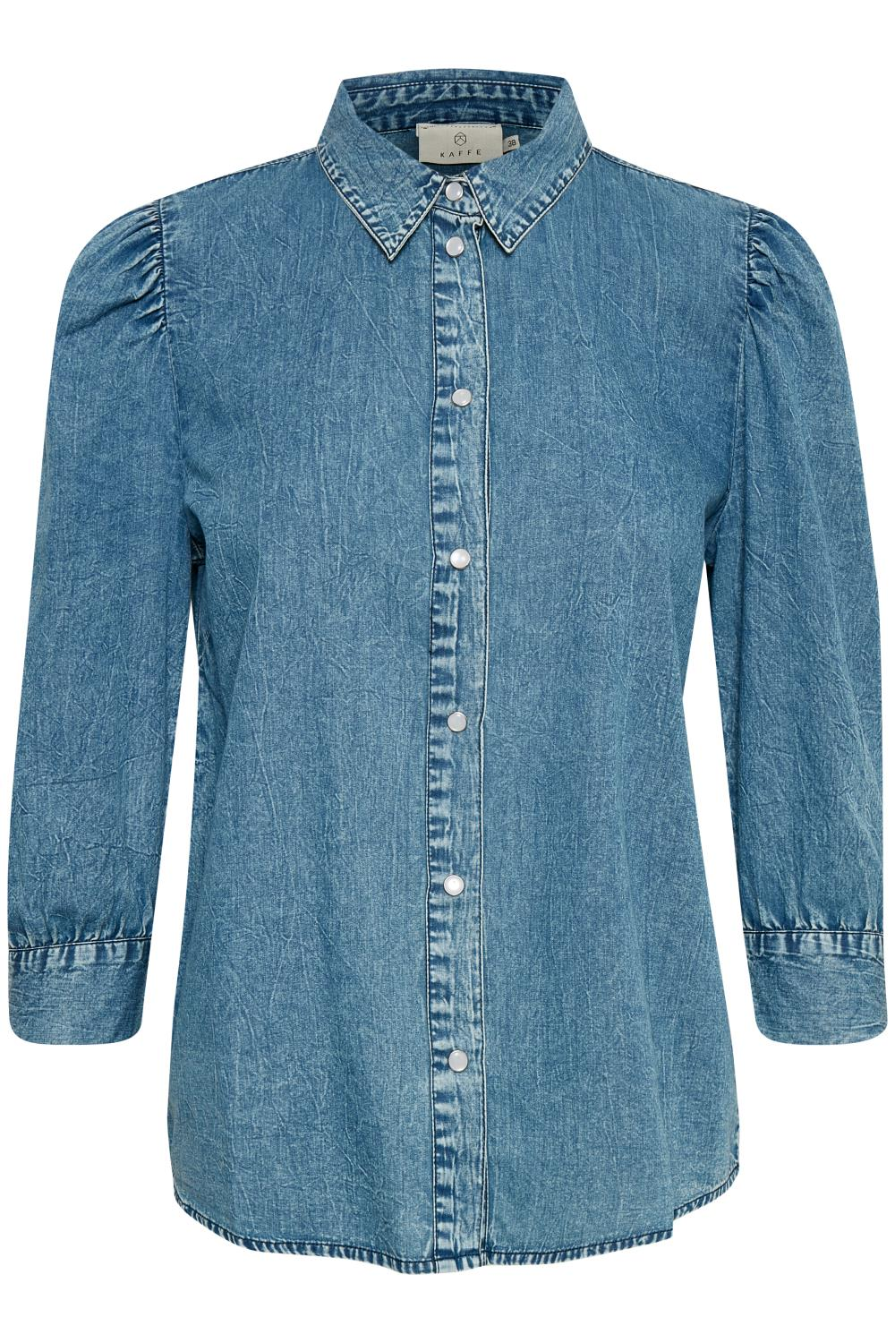 Kaffe Marie Shirt, washed denim