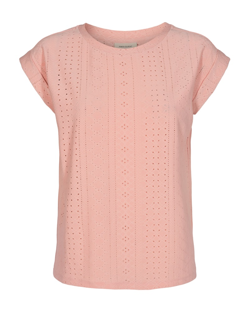 Freequent Blond tee, silver pink