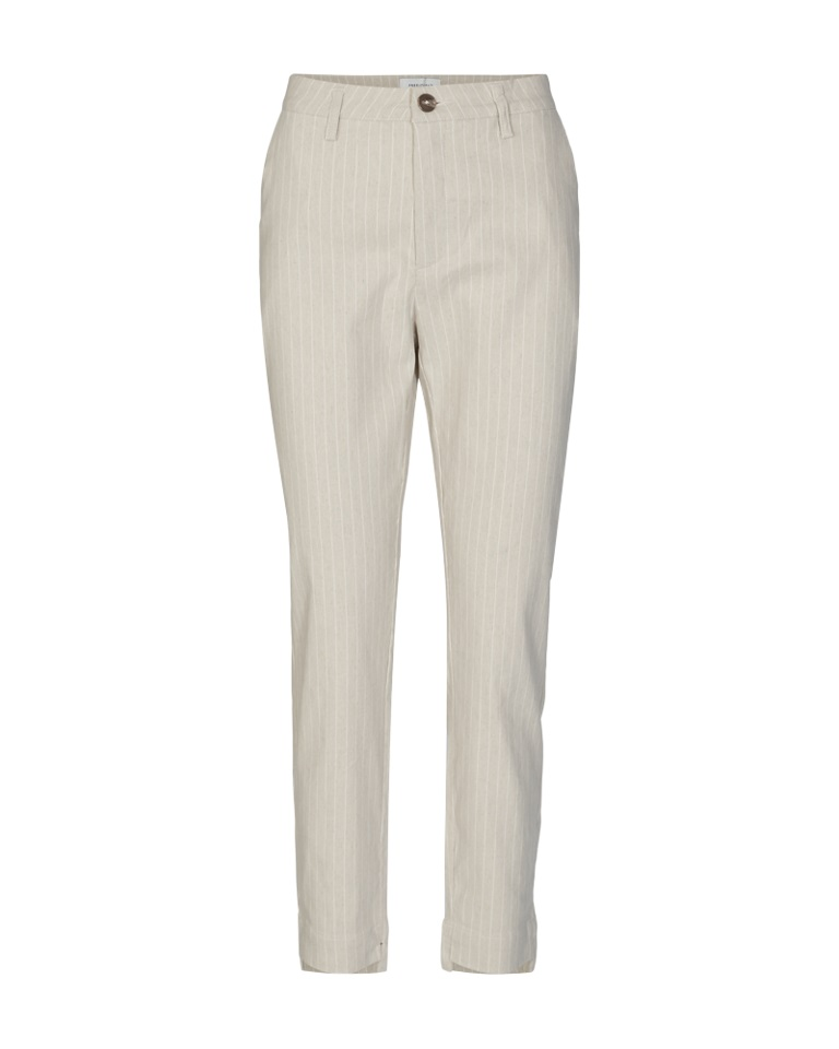 Freequent Vio Ankle Pant, stripet beige