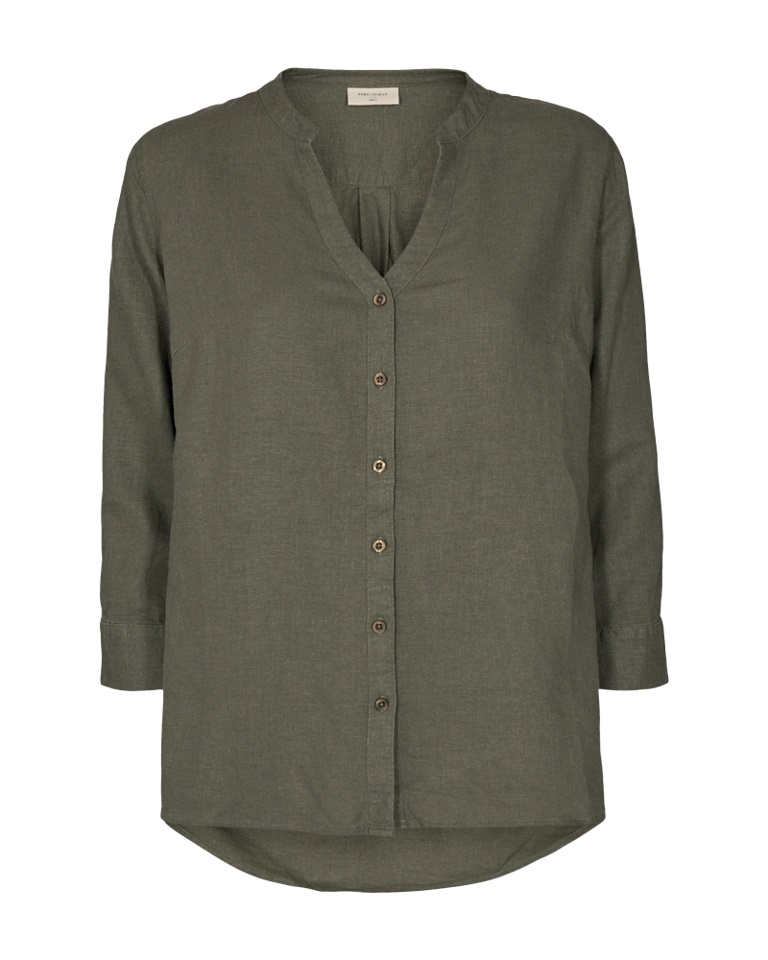 Freequent Lava A-shape Shirt, oliven
