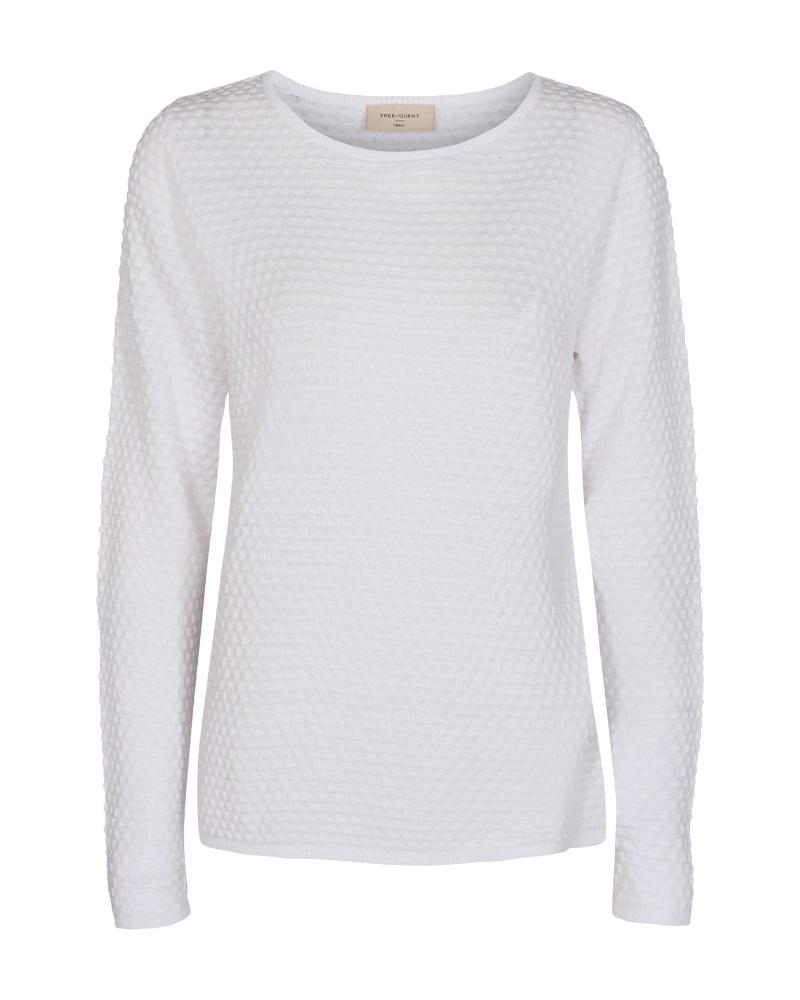 Freequent Dodo pullover dottie, brilliant white