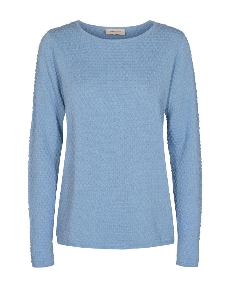 Freequent Dodo pullover dottie, chambray blue