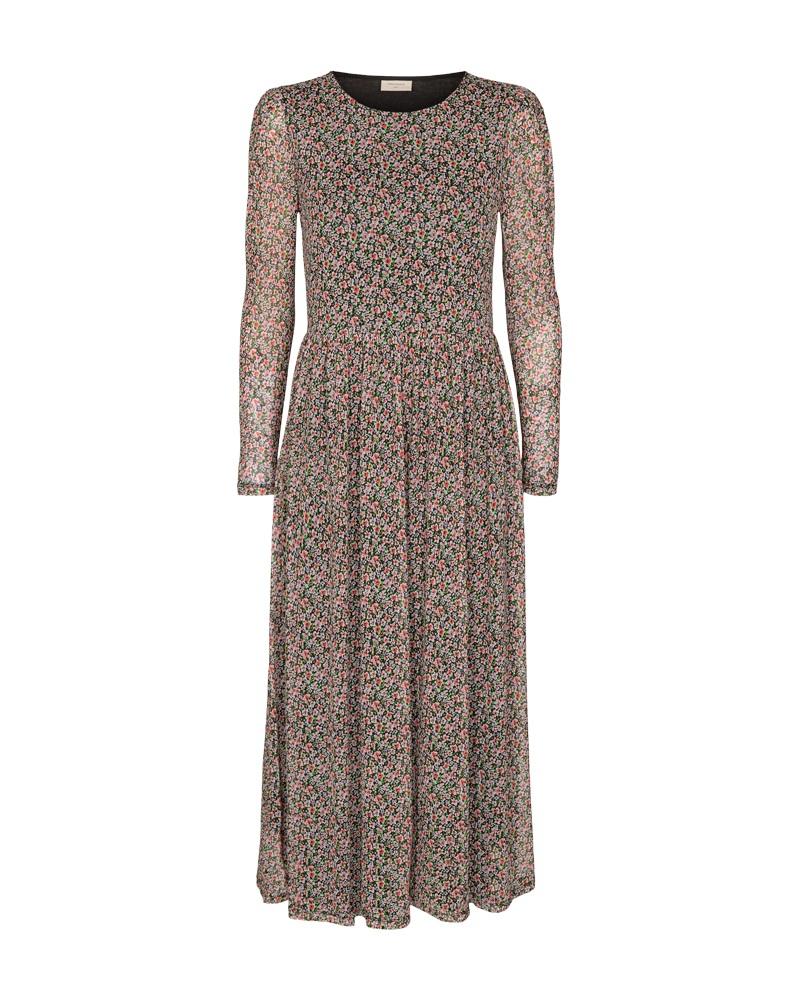 Freequent Lumi mønstret kjole, fresh salmon mix