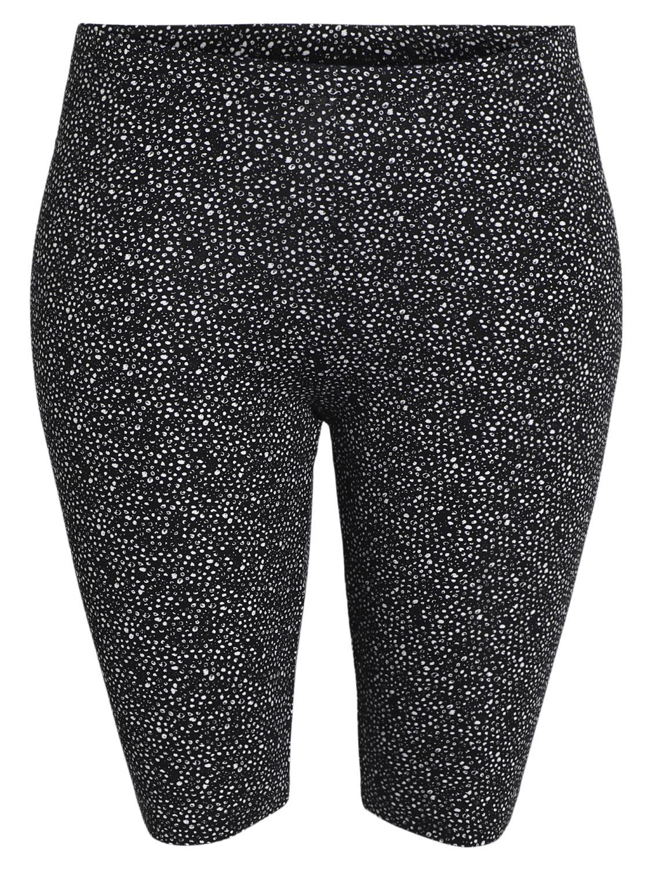 Ciso leggings shorts, sort/hvit mønstret